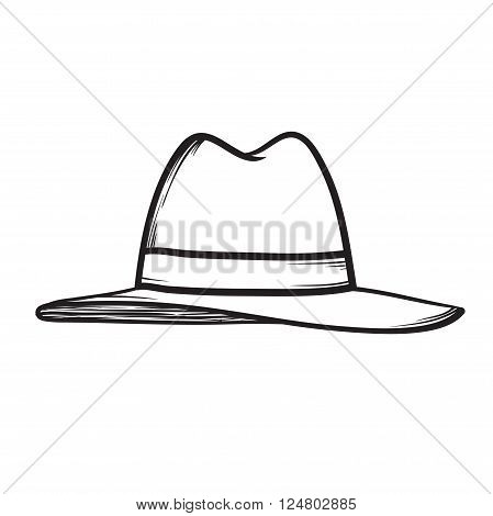 Hat Vector Icon Hand Drawn Illustration
