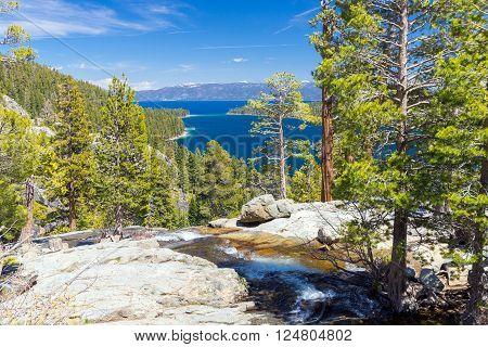 landscape of lake Tahoe Emerald bay, USA