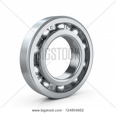 Of ball bearing radial isolated white background. 3D image