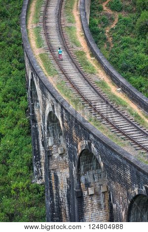 Highly detailed image of Nine arches bridge Ella Sri Lanka