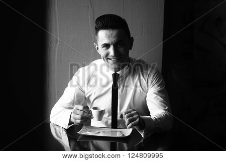 Man With Cup Of Coffee