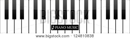 Piano keys abstract musical background. Vector illustration