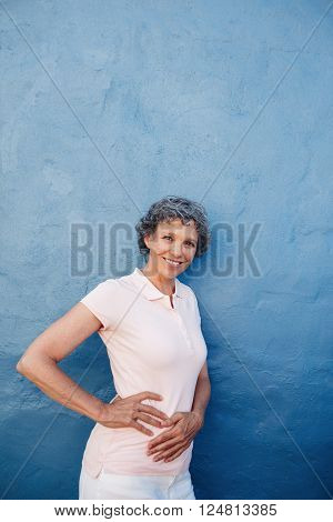 Confident Mature Woman Posing To Camera