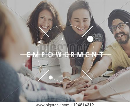 Empowerment Group Encouragement Together Concept