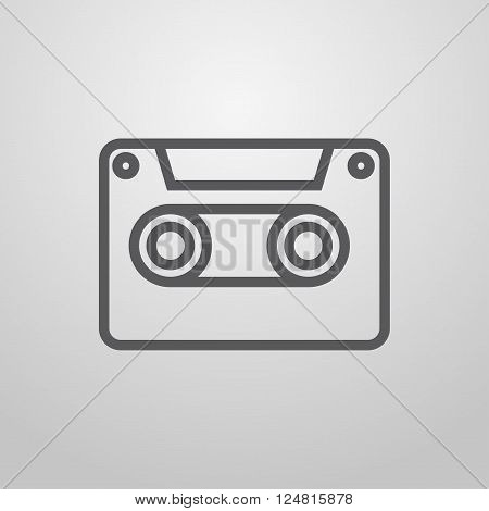 Recording. Dictaphone. Music player. Vector. illustration media