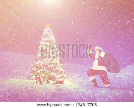 Santa Claus Christmas Tree Gifts Christmas Concept