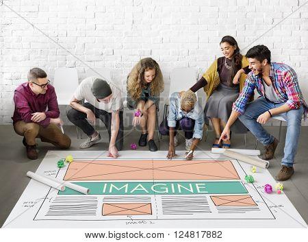Imagine Imagination Creative Dream Thinking Concept