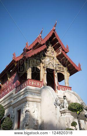 Asia Thailand Chiang Wat Chedi Luang