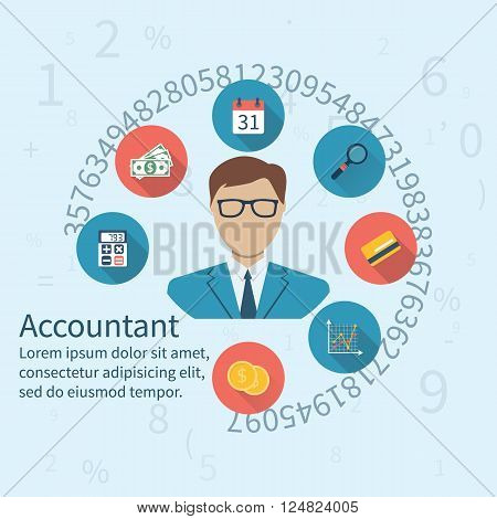 Accountant, Businessman. Concept Of Accounting And Calculation.