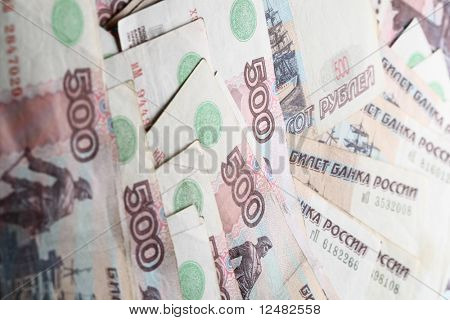 500 rubles macro background