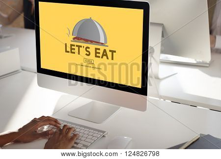 Let Eat Food Beverage Health Nutrition Organic Concept