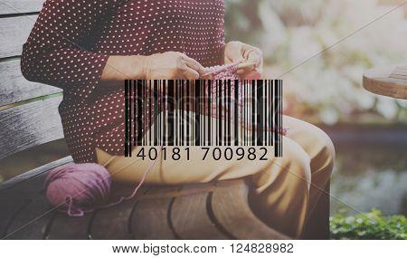 Barcode Data Electronic Label Logistics Retail Laser Concept