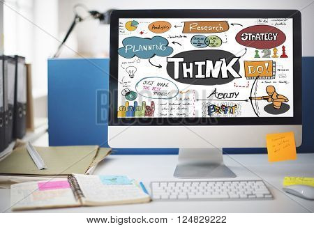 Think Thinking Planning Analyse Ideas Concept