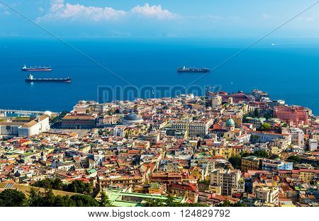 View of the historic centre of Napoli - Italy