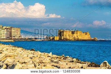 Castel dell'Ovo, a medieval fortress in the bay of Naples, Italy