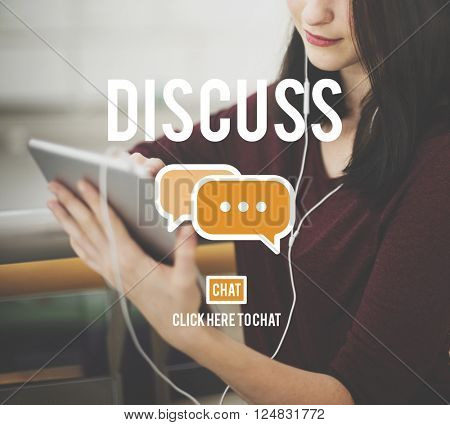 Discuss Argument Debate Talking Negotiation Discussion Concept