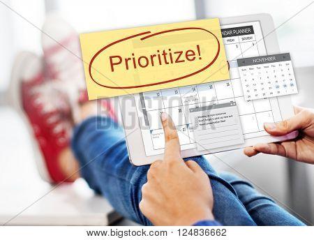 Prioritize Importance Tasks Urgency Concept