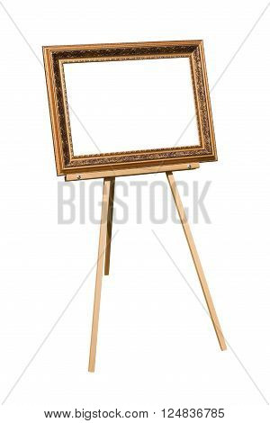easel with a blank frame for the picture
