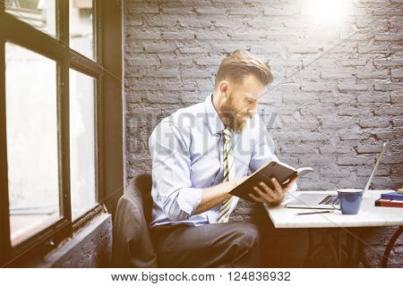 Businessman Reading Analysis Professional Occupation Concept