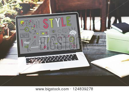Style Character Chic Fashionista Hipster Design Concept