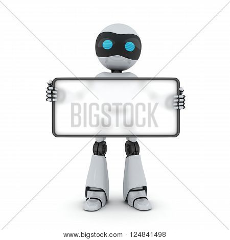 Robot and empty blank (done in 3d)