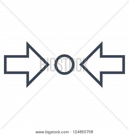Compress Horizontal vector icon. Style is stroke icon symbol, smooth blue color, white background.