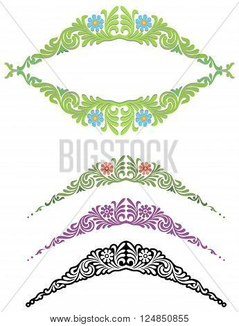 classic floral ornament with variations and a small frame