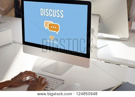 Discuss Forum Chat Group Topic Concept