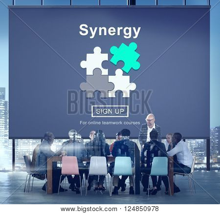 Synergy Teamwork Better Together Collaboration Concept