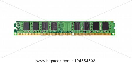 Electronic collection - computer random access memory (RAM) modules isolated on the white background