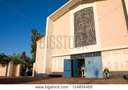 San Gabriel California/ USA.April 3 2016: Photo of Mission San Gabriel Arcangel
