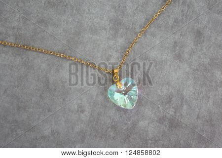 Elegant Beautiful Jewelry Single Aquamarine Stone Pendant In Sterling Silver Heart Shape Setting Iso
