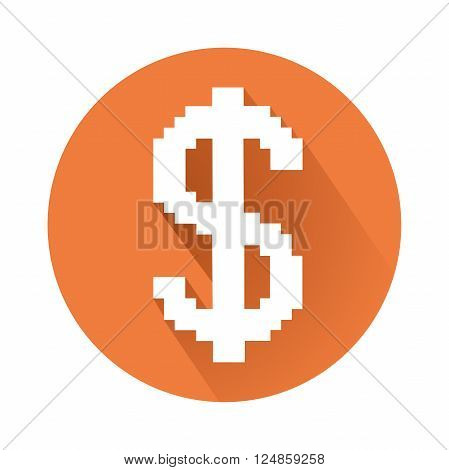 this is an illustration of pixelated dollar sign