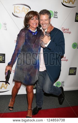 LOS ANGELES - APR 6:  Colleen Zenk, Kevin Spirtas at the 7th Annual Indie Series Awards at the El Portal Theater on April 6, 2016 in North Hollywood, CA