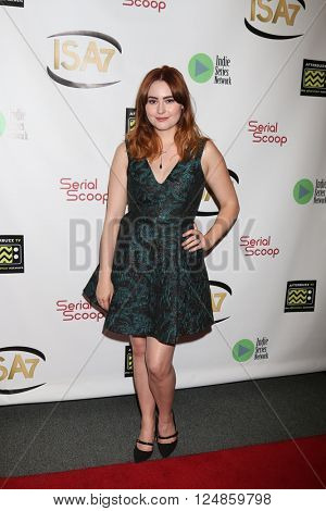LOS ANGELES - APR 6:  Jillian Clare at the 7th Annual Indie Series Awards at the El Portal Theater on April 6, 2016 in North Hollywood, CA