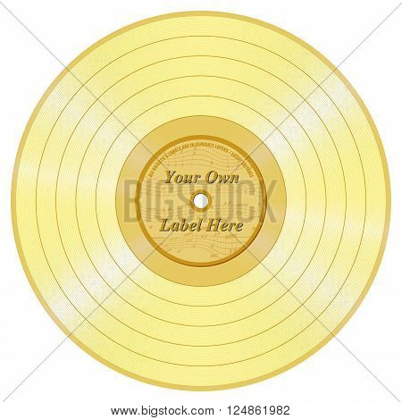 Golden Record Long Play with a Space on it to add a Label