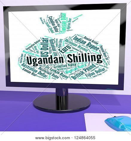Ugandan Shilling Represents Foreign Currency And Coin