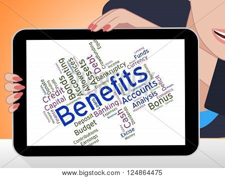 Benefits Word Indicates Compensation Rewards And Pay