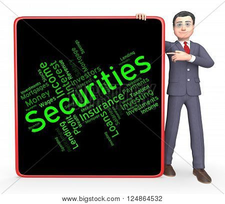 Securities Word Shows In Debt And Bond