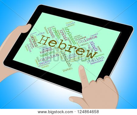 Hebrew Language Indicates Wordcloud Word And Speech