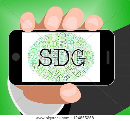 Sdg Currency Shows Exchange Rate And Broker