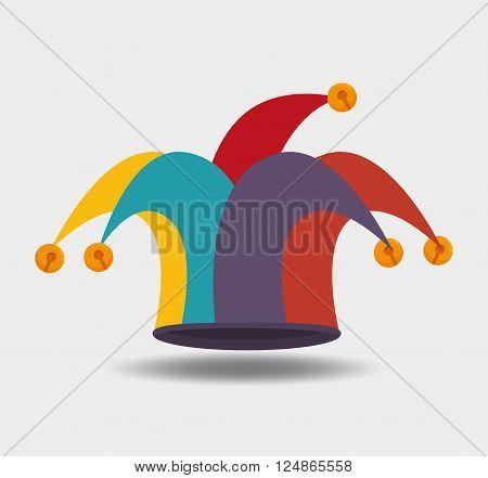 jester hat design, vector illustration eps10 graphic