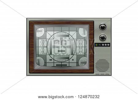 Retro tv isolated on the white background