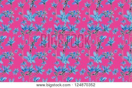 Vivid Folk Floral Collage
