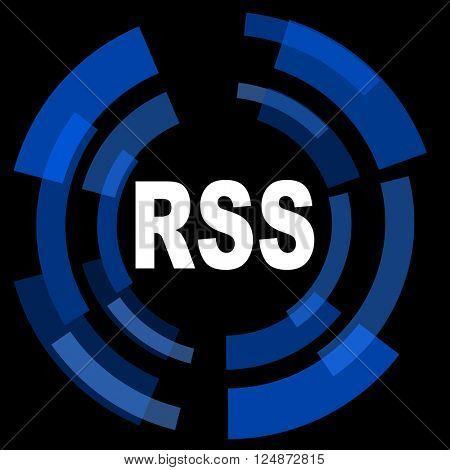 rss black background simple web icon