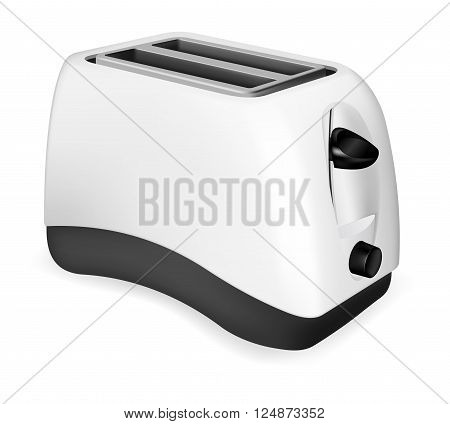 Photorealistic vector electric toaster on white background