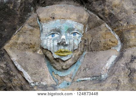 Rock relief - the face of the Sphinx