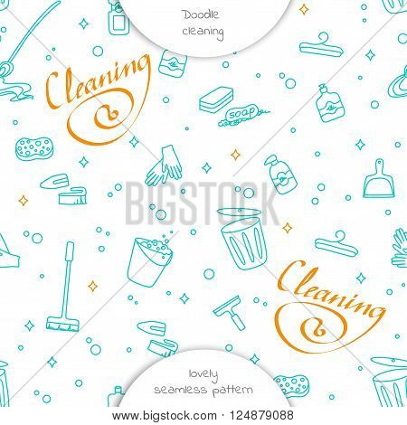 Cleaning Service Seamless Pattern