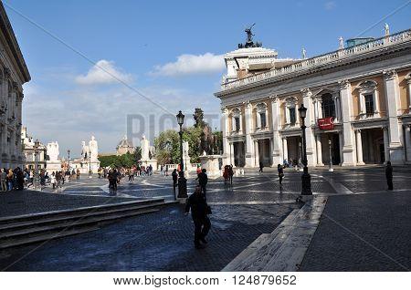 Piazza Del Campidoglio Square, Rome