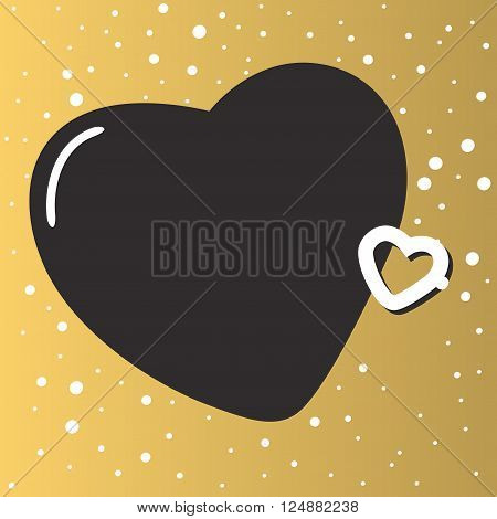 Hearts background romance card and hearts gold background. Hearts background decoration love wedding card. Gold background with beautiful hearts abstract party wallpaper design vector illustration.